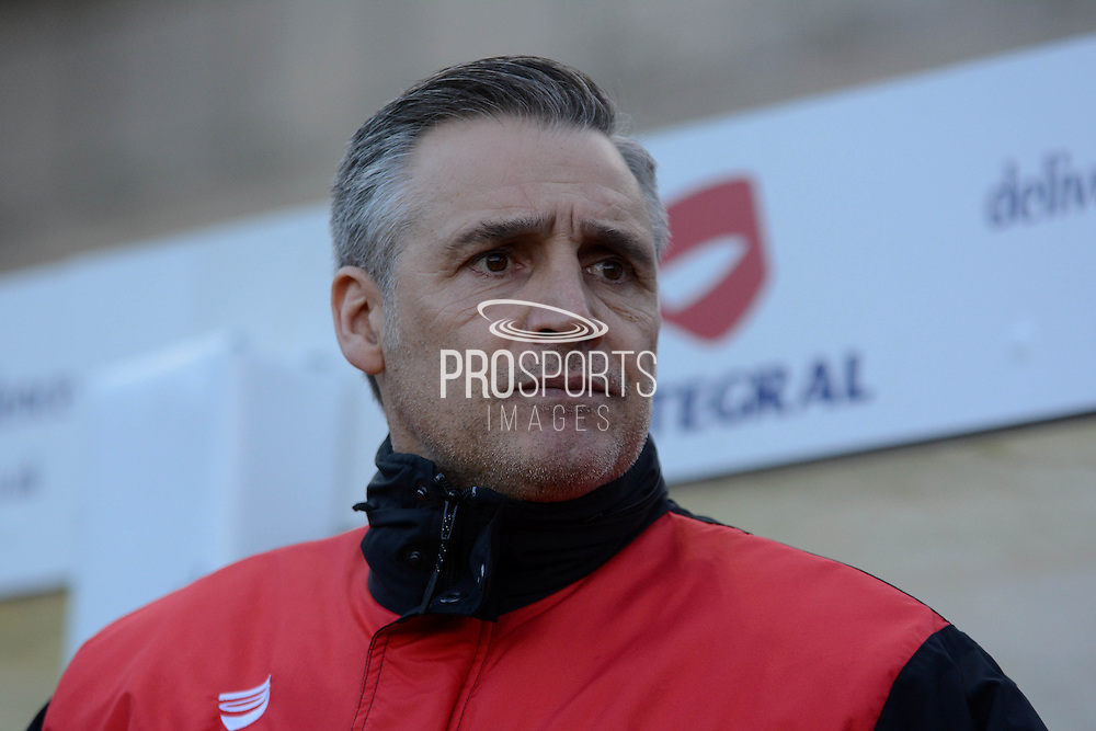 Bristol City Interim manager John Pemberton during the Sky Bet Championship match between Bristol City and Birmingham City at Ashton Gate, Bristol, England on 30 January 2016. Photo by Alan Franklin.
