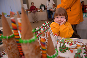 19149West 82's Gingerbread decorating contest on: Judging 12/9/08.. Alison Russ, 5 years  (Jill Russ's child)