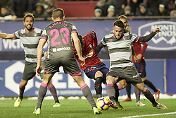 February 3, 2019 - Pamplona, Spain - Ruben García (midfield; CA Osasuna)  seen in action during the Spanish football of La Liga 123, match between CA Osasuna and  Granada CF at the Sadar stadium, in Pamplona (Navarra), Spain. (Credit Image: © Fernando Pidal/SOPA Images via ZUMA Wire)