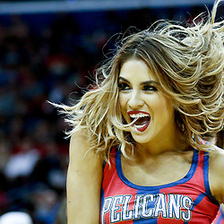 Dec 21, 2016; New Orleans, LA, USA;  The New Orleans Pelicans dance team performs during the second half of a game against the Oklahoma City Thunder at the Smoothie King Center. The Thunder defeated the Pelicans 121-110. Mandatory Credit: Derick E. Hingle-USA TODAY Sports