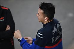 February 21, 2019 - Barcelona, Spain - Thai driver Alexander Albon of Italian team Red Bull Toro Rosso Honda speaking driving sensation on his single-seater STR14 during Barcelona winter test in Catalunya Circuit in Montmelo, Spain  (Credit Image: © Andrea Diodato/NurPhoto via ZUMA Press)