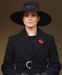 Members of The Royal Family attend the Remembrance Sunday Service at The Cenotaph, Whitehall, London, UK, on the 10th November 2019. 10 Nov 2019 Pictured: Meghan Markle, Duchess of Sussex. Photo credit: James Whatling / MEGA TheMegaAgency.com +1 888 505 6342