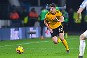 Leander Dendoncker of Wolverhampton Wanderers (32) in action during the Premier League match between Huddersfield Town and Wolverhampton Wanderers at the John Smiths Stadium, Huddersfield, England on 26 February 2019.