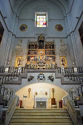 THEMENBILD - Madrid ist seit Jahrhunderten der geographische, politische und kulturelle Mittelpunkt Spaniens (siehe Kastilien) und der Sitz der spanischen Regierung. Hier residieren auch der König, ein katholischer Erzbischof sowie wichtige Verwaltungs- und Militärbehörden. Als Handels- und Finanzzentrum hat die Stadt nationale und internationale Bedeutung. Hier im Bild Hochaltar, Heilige Maria, Innenansicht, Catedral de Nuestra Senora de la Almudena, Santa Maria la Real de La Almudena, Almudena-Kathedrale // THEMATIC PACKAGES - Madrid is the capital and largest city of Spain. The population of the city is roughly 3.3 million and the entire population of the Madrid metropolitan area is calculated to be around 6.5 million. It is the third-largest city in the European Union, after London and Berlin, and its metropolitan area is the third-largest in the European Union after London and Paris. The city spans a total of 604.3 km2. EXPA Pictures © 2014, PhotoCredit: EXPA/ Eibner-Pressefoto/ Weber<br /> <br /> *****ATTENTION - OUT of GER*****