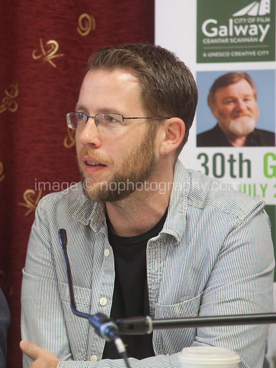 Producer Macdara Kelleher (Fastnet Films) at the 'Shaping Film Production in Ireland - the next 10 years' Panel Discussion at the Galway Film Fleadh, Galway Rowing Club, Galway, Ireland. Saturday 14th July 2018