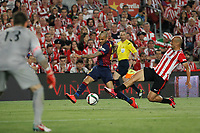 Barcelona´s Dani Alves and Athletic de Bilbao´s Mikel Rico during 2014-15 Copa del Rey final match between Barcelona and Athletic de Bilbao at Camp Nou stadium in Barcelona, Spain. May 30, 2015. (ALTERPHOTOS/Victor Blanco)