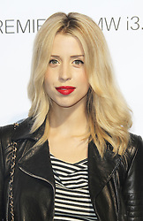 © Licensed to London News Pictures  07/04/14. LONDON UK. Peaches Geldof found dead at her home in Wrotham in Kent aged 25 FILE PICTURE DATED 29/07/13 Peaches Geldof at the BMW i3 global reveal party, Old Billingsgate Market, London UK, 29 July 2013. Photo Credit:  Richard Goldschmidt/PiQtured/LNP