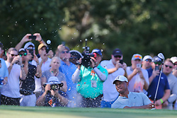 September 21, 2018 - Atlanta, Georgia, United States - Tiger Woods hits out of a bunker during the second round of the 2018 TOUR Championship. (Credit Image: © Debby Wong/ZUMA Wire)