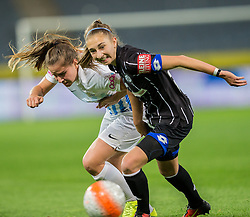 05.10.2016, Merkur Arena, Graz, AUT, CHL, SK Sturm Graz Damen vs FC Zuerich Frauen, Sechzehntelfinale, Hinspiel, im Bild Naomi Megroz (Zuerich), Katharina Naschenweng (Graz) // during the Round of 32, 1st Leg of the UEFA Womens Champions League between SK Sturm Graz Women and FC Zuerich Women at the Merkur Arena, Graz, Austria on 2016/10/05, EXPA Pictures © 2016, PhotoCredit: EXPA/ Dominik Angerer