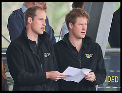 Image licensed to i-Images Picture Agency. 11/09/2014. London, United Kingdom. The Duke of Cambridge and Prince Harry attend  a Drumhead Service  at the athletics competition on day one of the Invictus Games in London. Picture by Stephen Lock / i-Images