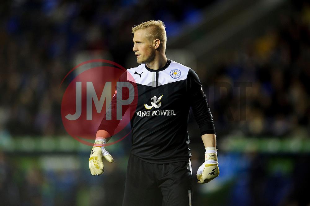 Kasper Schmeichel (DEN) of Leicester City looks on - Photo mandatory by-line: Rogan Thomson/JMP - 07966 386802 - 14/04/2014 - SPORT - FOOTBALL - Madejski Stadium, Reading - Reading v Leicester City - Sky Bet Football League Championship.