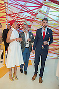 ZADIE SMITH; GRAHAM NORTON; NICK LAIRD, Serpentine's Summer party co-hosted with Christopher Kane. 15th Serpentine Pavilion designed by Spanish architects Selgascano. Kensington Gardens. London. 2 July 2015.