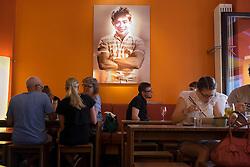Interior of popular Vietnamese cafe/restaurant Monsieur Vuong in Mitte Berlin Germany