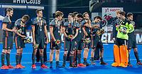 BHUBANESWAR, INDIA -  Oranje met zilver,  na  de  finale tussen België en Nederland (0-0)  bij het WK Hockey heren in het Kalinga Stadion. Belgie wint de shoot outs .  COPYRIGHT KOEN SUYK