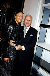 VERONICA WEBB and MANOLO BLAHNIK at a party hosted by Versace during London Fashion Week 2005 at their store in Slaone Street, London on 19th September 2005.<br /><br />NON EXCLUSIVE - WORLD RIGHTS