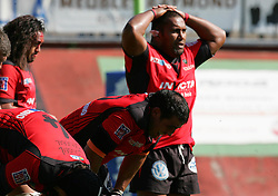 Dejected Toulon players after Montauban win are awarded a last minute penalty. a Montauban defeated big-spending Toulon 21-18 in the Top 14 on Sunday to cap a memorable week for the south-western club. Stade Sapiac, Montauban, France, 6th September 2009.