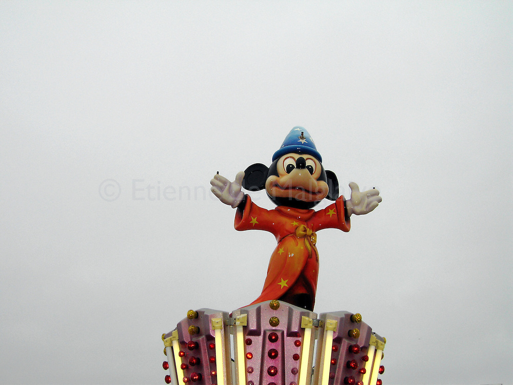Mickey Mouse on an attraction in Le Havre, Normandy. 2007.