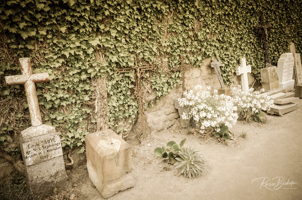 Graves, Mont Saint-Michel Cemetery, Normandy, France