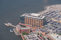 Aerial image of Thames Street Wharf  Office Building in Baltimore City by Jeffrey Sauers of Commercial Photographics, Architectural Photo Artistry in Washington DC, Virginia to Florida and PA to New England