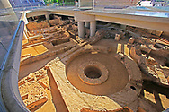 The archaeological site under  the Acropolis Museum in Athens, Greece.<br />