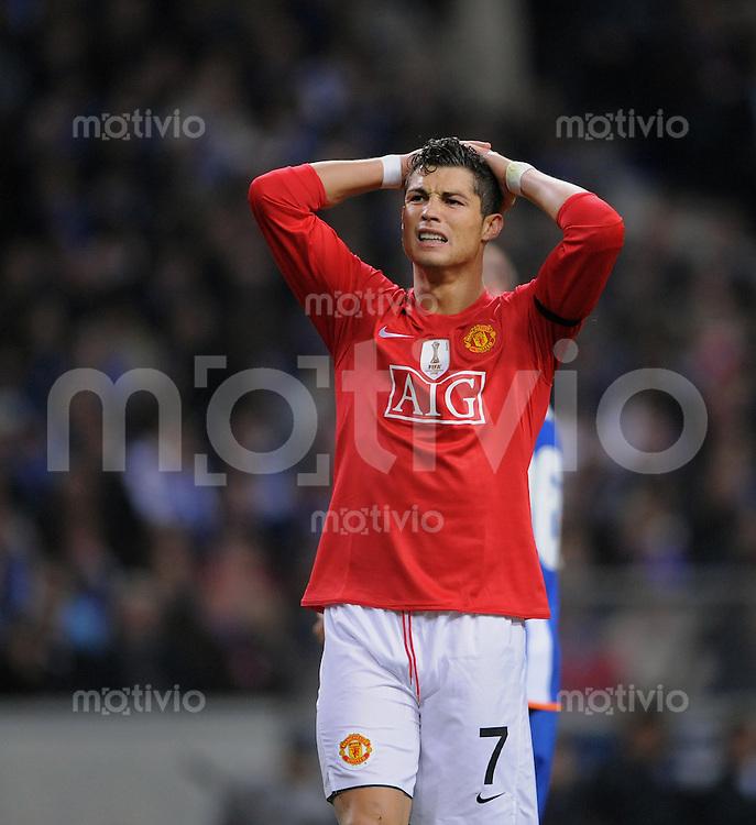Fussball   International    Champions League  Viertelfinale  Saison 2008/2009     FC Porto - Manchester United                              15.04.2009 Cristiano Ronaldo (ManU)