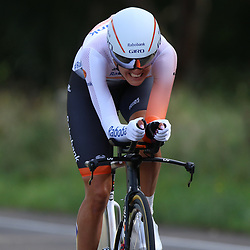 04-09-2015: Wielrennen: Ladiestour: Oosterhout OOSTERHOUT (NED) wielrennen<br /> De vierde etappe was in Oosterhout een gevecht tegen het uurwerk. Moniek Tenniglo