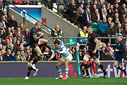 Twickenham, Surrey United Kingdom. Mike BROWN , collects the high ball, during the England vs Argentina. Autumn International, Old Mutual Wealth series. RFU. Twickenham Stadium, England. <br /> <br /> Saturday  11.11.17.    <br /> <br /> [Mandatory Credit Peter SPURRIER/Intersport Images]