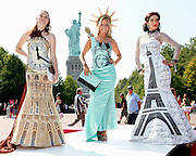 Dolls of the World Living Dolls Event on Liberty Island in New York, Friday, Aug. 6, 2010. (Photo/Stuart Ramson)