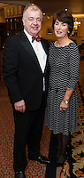 repro free: Padraic and Sandra Rhatigan at the SCSI, Society of Chartered Surveyors of Ireland West branch Annual Dinner 2017 at the Ardilaun Hotel, Galway. Photo:Andrew Downes.