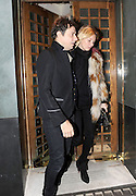 02.DECEMBER.2011. LONDON<br /> <br /> KATE MOSS AND JAMIE HINCE LEAVING THE IVY RESTAURANT AND ARRIVING AT THE HOSPITAL CLUB ON ENDELL STREET COVENT GARDEN<br /> <br /> BYLINE: OPTICPHOTOS.COM<br /> <br /> *THIS IMAGE IS STRICTLY FOR UK NEWSPAPERS AND MAGAZINES ONLY*<br /> *FOR WORLD WIDE SALES AND WEB USE PLEASE CONTACT OPTICPHOTOS - 0208 954 5968*