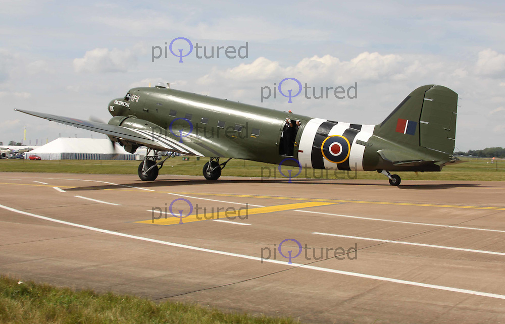 C-47 Dakota Battle of Britain Memorial Flight Royal Air Force The Royal International Air Tattoo, RAF Fairford, UK, 15 July 2011:  Contact: Rich@Piqtured.com +44(0)7941 079620 (Picture by Richard Goldschmidt)