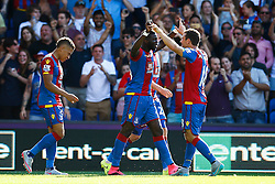 Goal, Bakary Sako of Crystal Palace scores, Crystal Palace 2-1 Aston Villa - Mandatory byline: Jason Brown/JMP - 07966386802 - 22/08/2015 - FOOTBALL - London - Selhurst Park - Crystal Palace v Aston Villa - Barclays Premier League