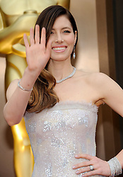 Jessica Biel arriving to the 2014 Oscars at the Hollywood and Highland Center in Hollywood, California, USA,  Sunday, 2nd March 2014. Picture by Hollywood Bubbles / i-Images<br /> UK ONLY