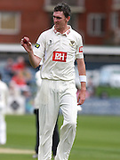 Sussex bowler Steve Magoffin during the LV County Championship Div 1 match between Sussex County Cricket Club and Middlesex County Cricket Club at the BrightonandHoveJobs.com County Ground, Hove, United Kingdom on 10 May 2015. Photo by Bennett Dean.