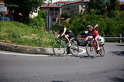 Sheyla Gutierrez Ruiz (ESP) and Alice Arzuffi (ITA) in the break at Giro Rosa 2018 - Stage 2, a 120.4 km road race starting and finishing in Ovada, Italy on July 7, 2018. Photo by Sean Robinson/velofocus.com