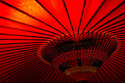 Red Japanese umbrella - detail shot