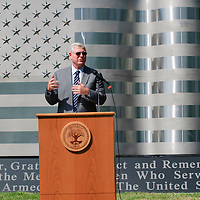 Captain, U.S. Navy, Ret. Director of Johnson Space Center Michael L. Coats spoke at the dedication of the new Friendswood Veterans Memorial that was dedicated today.
