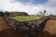 Kauai. Wailua River. A Heiau (sacred site.)