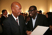 Michael Roberts and Edward Enninful, Michael Roberts - book launch party hosted by Vanity Fair to celebrate  publication, Shot In Sicily. Hamiltons Gallery, 13 Carlos Place, London,17 September 2007. -DO NOT ARCHIVE-© Copyright Photograph by Dafydd Jones. 248 Clapham Rd. London SW9 0PZ. Tel 0207 820 0771. www.dafjones.com.