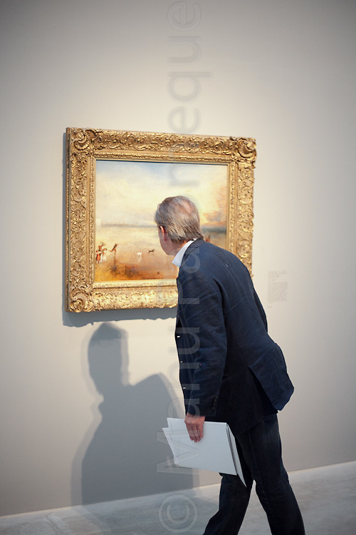 "© London News Pictures. 27/01/2012. Margate, Kent. ""Turner and the Elements"" showing at the Turner Contemporary in Margate, Kent. It brings tgether 88 works by Britains best-loved painter JMW Turner. A number of works feature Margate and the north Kent coast based on the artists theme of the elements - Earth, Water, Air, Fire and Fusion. Photo credit should read Manu Paomeque/LNP."