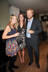 Left to right, TANA LAPAGE, JESSICA CRAIG and ALEX RHODES at a party to celebrate the publication of Born Wild by Tony Fitzjohn at The Arts Club, Dover Street, London on 16th September 2010.