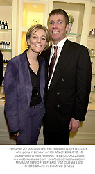 Perfumer JO MALONE and her husband GARY WILLCOX, at a party in London on 7th March 2002.	OYD 18