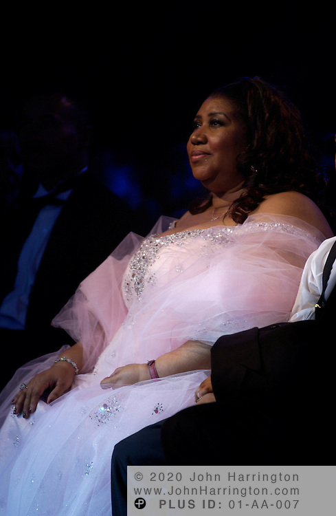 Aretha Franklin takes it in at BET's 9th annual Walk of Fame which honored her on Saturday October 18, 2003.