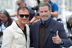 Edward Walson and John Travolta attending the Rendez-vous with John Travolta - Gotti Photocall held at the Palais des Festivals as part of the 71th annual Cannes Film Festival on May 15, 2018 in Cannes, France. Photo by Aurore Marechal/ABACAPRESS.COM
