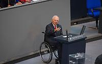 DEU, Deutschland, Germany, Berlin, 05.09.2017: Bundesfinanzminister Dr. Wolfgang Schäuble (CDU) bei einer Rede im Deutschen Bundestag.