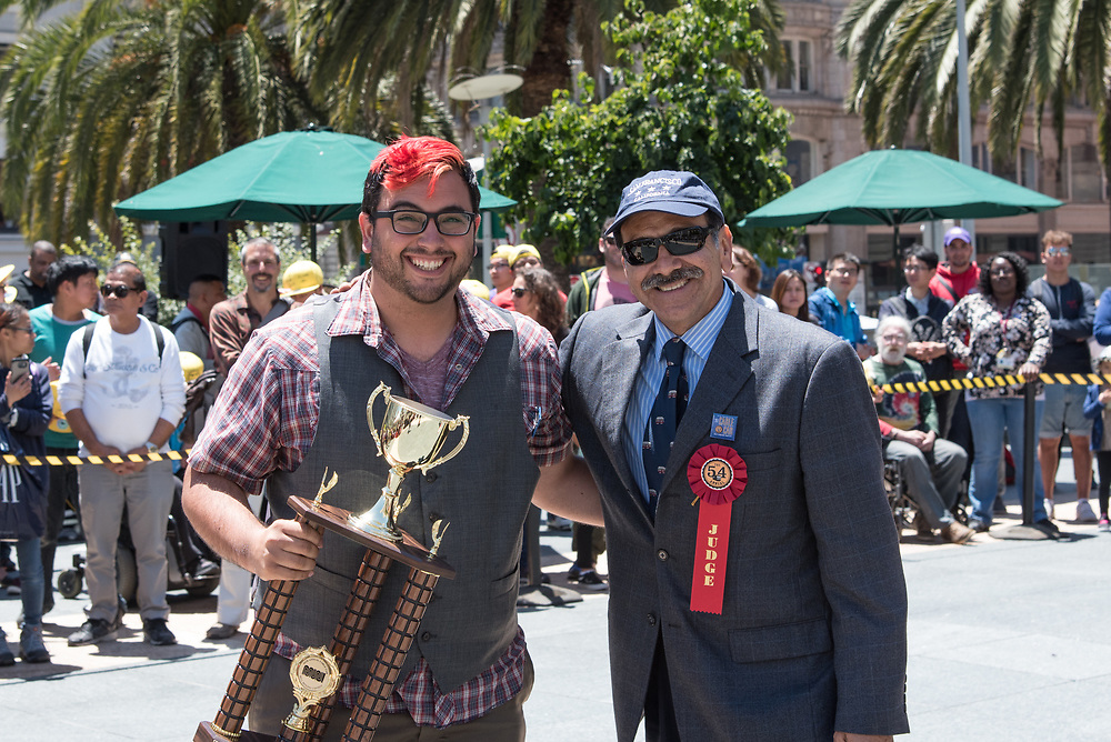 SF Examiner Reporter Joe Fitzgerald Rodriguez Winning 3rd Place at the 54th Cable Car Contest | July 13, 2017