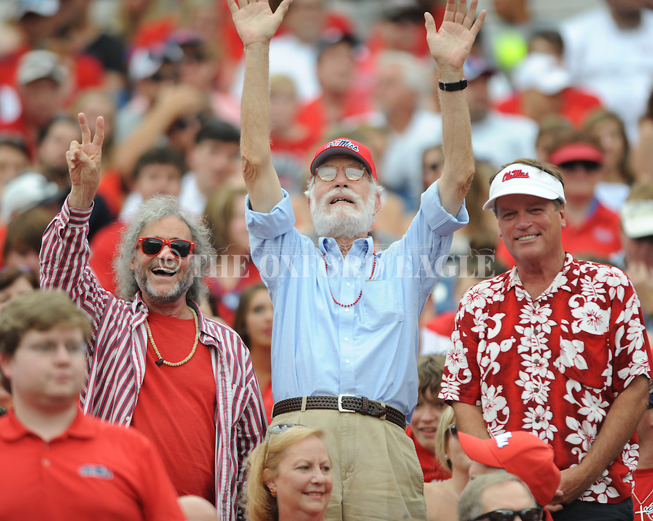 Ron Shapiro, Semmes Luckett, and Jim Dees attend Ole Miss vs. Vanderbilt at L.P. Field in Nashville, Tenn. on Saturday, September 6, 2014. Ole Miss won 41-3.