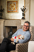 Nima Sarshar of Threedy.ai poses for a portrait at his home in San Jose, California, on March 8, 2019. (Stan Olszewski for Silicon Valley Business Journal)