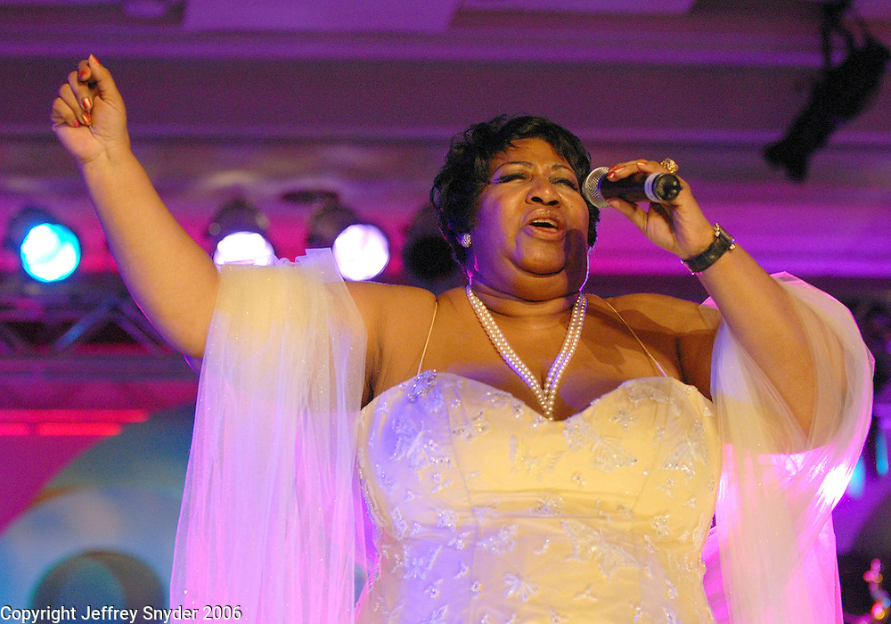 Aretha Franklin at the Radio One 25th Anniversary Celebration.