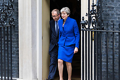 2017-06-09 Prime Minister Theresa May leaves to see Queen's permission to form government